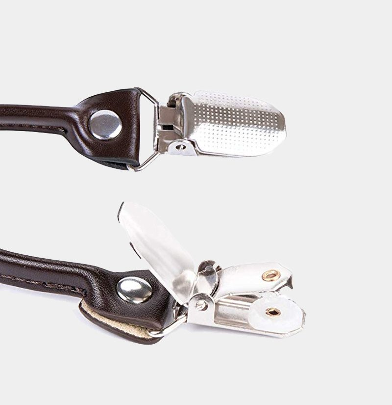 Polished Double Clip Suspenders from Gentlemansguru.com