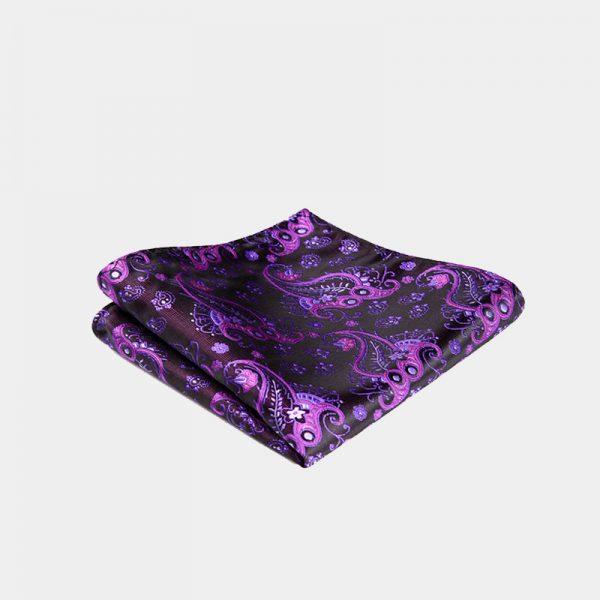 Purple Paisley Pocket Square from Gentlemansguru.com