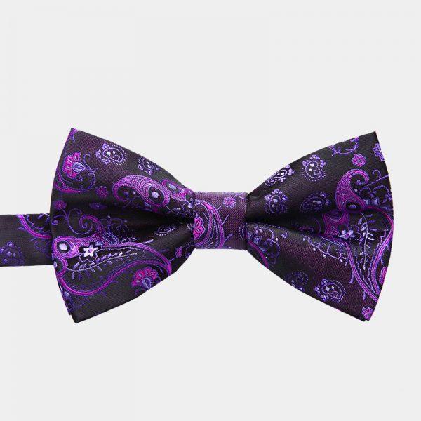 Purple Paisley Pre-Tie Bow Tie from Gentlemansguru.com