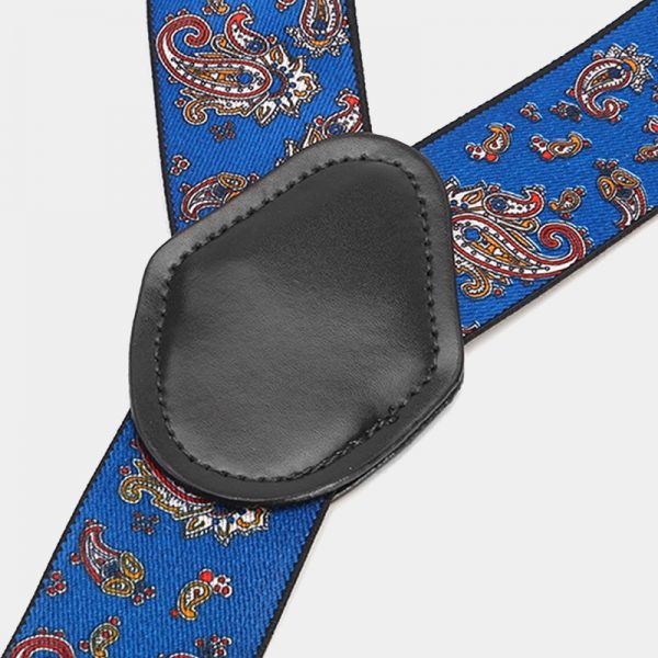Royal Blue Paisley Suspenders from Gentlemansguru.com