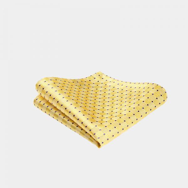 Silk Yellow Dotted Pocket Square from Gentlemansguru.com