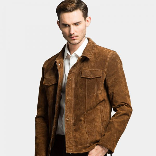 Suede Leather Brown Jacket Wintage Style from Gentlemansguru.com