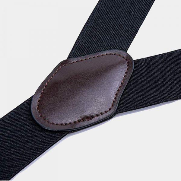 Wedding Black Dual Clips Suspenders from Gentlemansguru.com