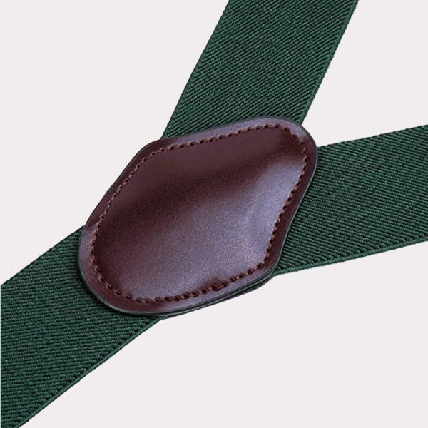 Wedding Tuxedo Army Green Double Clip Suspenders from Gentlemansguru.com