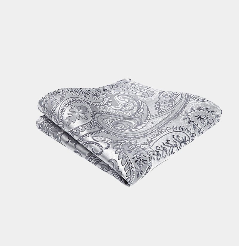 White Floral Pocket Square from Gentlemansguru.com