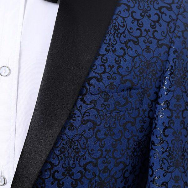 Black And Navy Blue Tuxedo Suit-Prom-Wedding-from Gentlemansguru.com