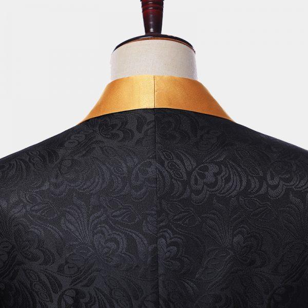 Black Tuxedo With Gold Vest And BGow Tie from Gentlemansguru.com