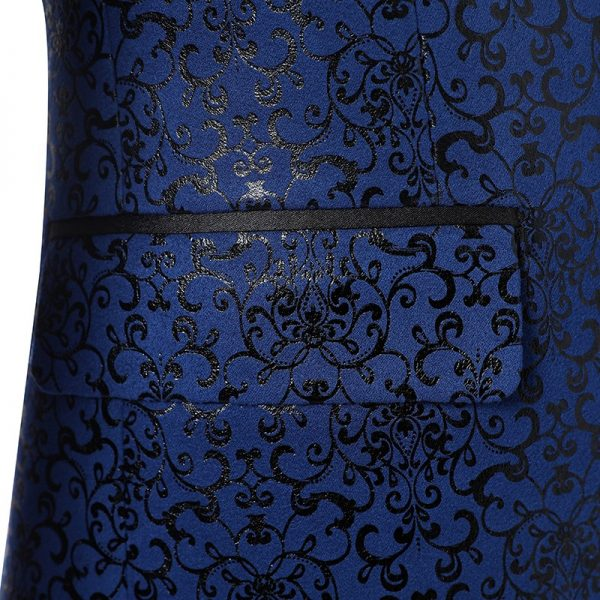 Back and Midnight Blue Tuxedo Suit from Gentlemansguru.com
