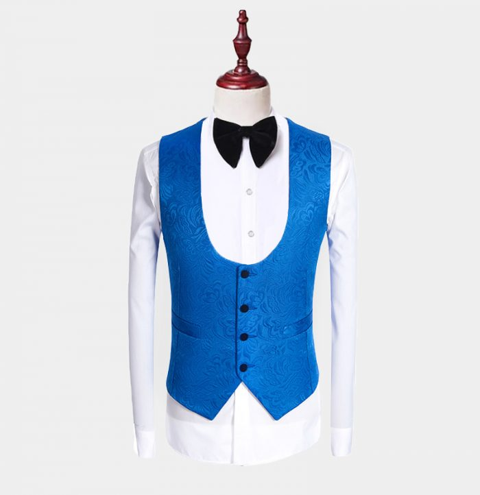 Blue Tuxedo With Royal Blue Vest And Tie from Gentlemansguru.com