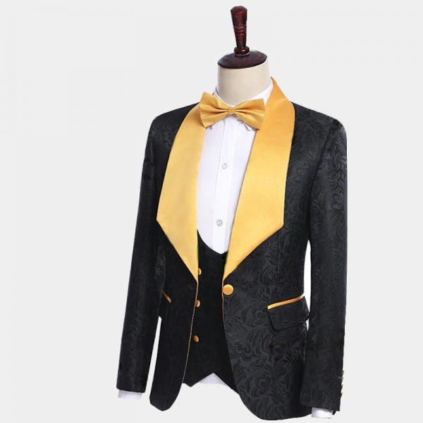 Mens Black And Gold Suit from Gentlemansguru.com