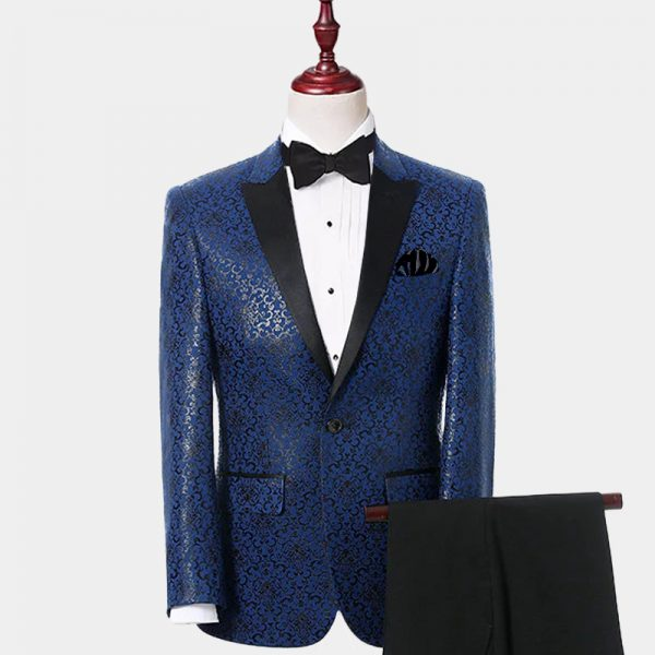 Mens Black and Blue Tuxedo Suit For Prom-Wedding from Gentlemansguru.com