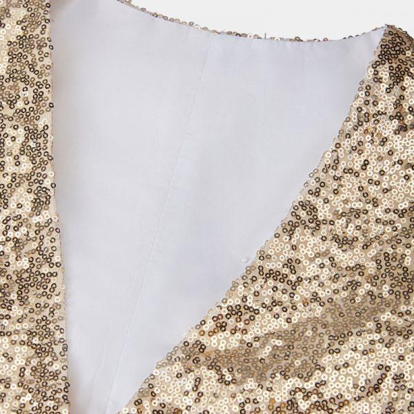 Mens Gold Sequin Tuxedo Vest from Gentlemansguru.com