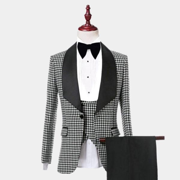 Mens Houndstooth Tuxedo Suit from Gentlemansguru.com
