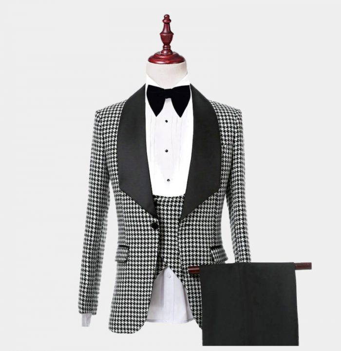 Mens Houndstooth Tuxedo Suit from Gentlemansguru.com