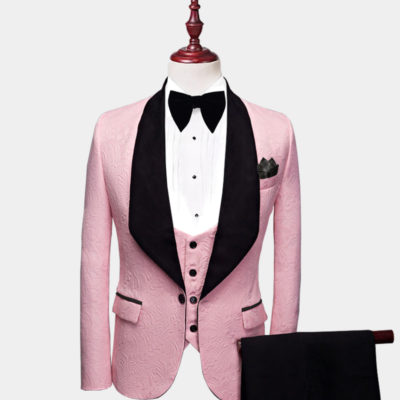 Mens Pink And Black Tuxedo Suit Prom-Wedding from Gentlemansguru.com