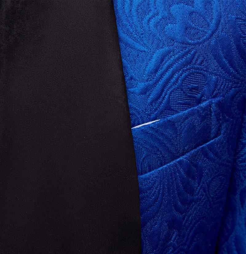 Royal Blue Tuxedo Black Lapel Shawl from Gentlemansguru.com