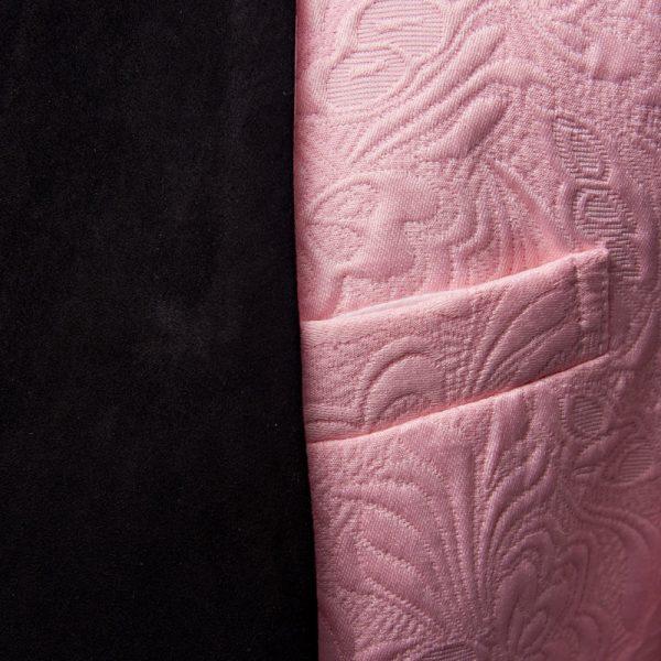 Black Shawl Lapel Pink Tuxedo Suit For Men from Gentlemansguru.com