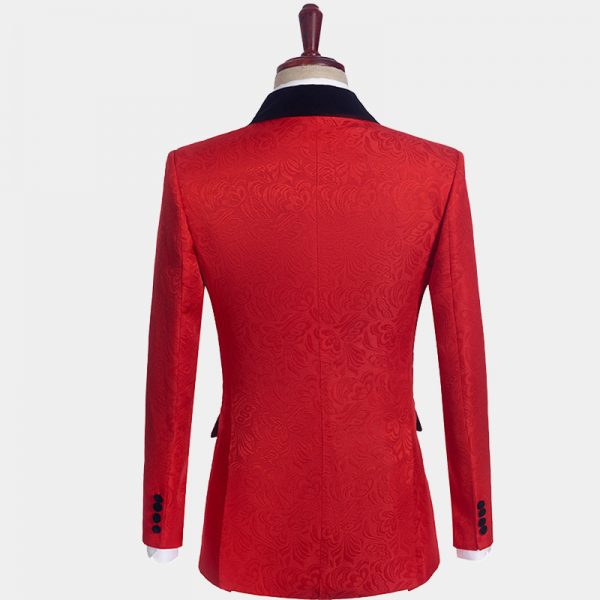 Red And Black Tuxedo For Sale from Gentlemansguru.com