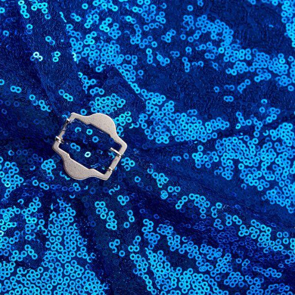 Royal Blue Sequin Vest Mens from Gentlemansguru.com