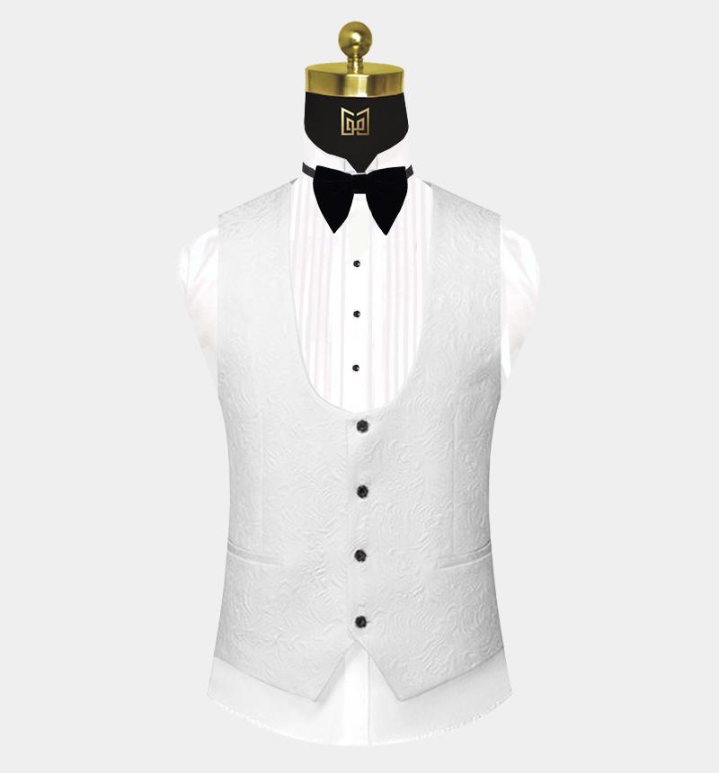 White-Floral-Tuxedo-Vest-Wedding-Waistcoat-from-Gentlemansguru.com