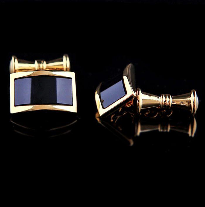 18K Plated Gold Chain Link Cufflinks Set from Gentlemansguru.com