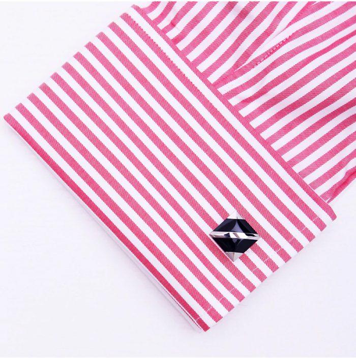 Black And Silkver Button Cufflinks For Men from Gentlemansguru.com
