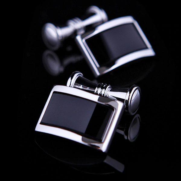 Black And Silver Chain Link Cufflinks from Gentlemansguru.com