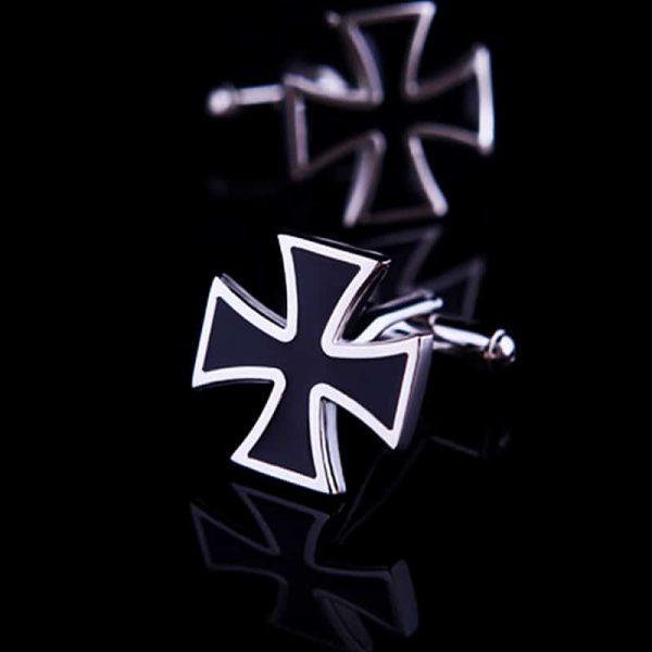 Black Iron Cross Cufflinks from Gentlemansguru.com