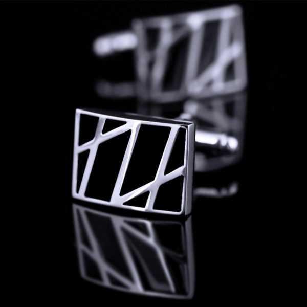 Black-Modern-Cufflinks-from-Gentlemansguru