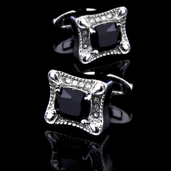 Black Stone Cufflinks from Gentlemansguru.com