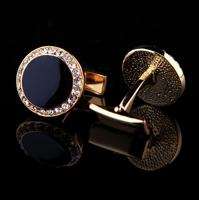 Black and Gold Onyx Cufflinks from Gentlemansguru.com