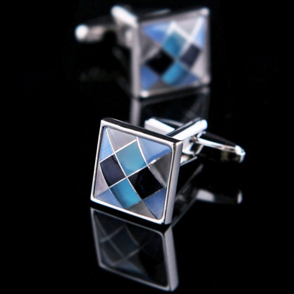 Blue Argyle Cufflinks from Gentlemansguru.com