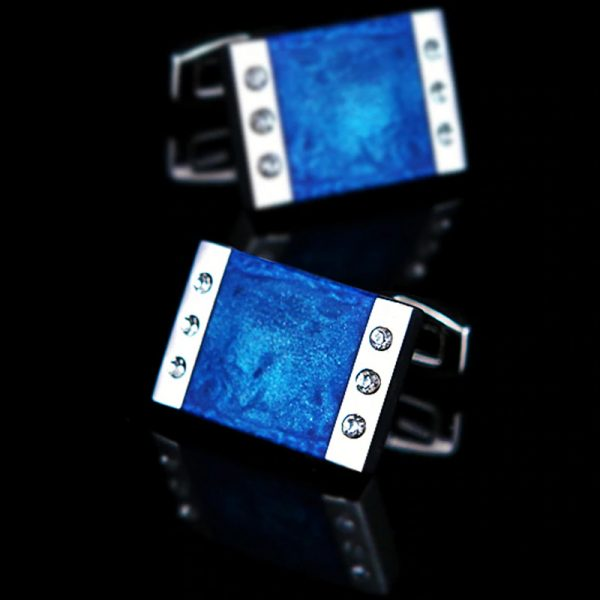 Blue Enamel Cufflinks For men from Gentlemansguru.com