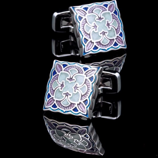 Blue Lucite Vintage Cufflinks For Men from Gentlemansguru.com