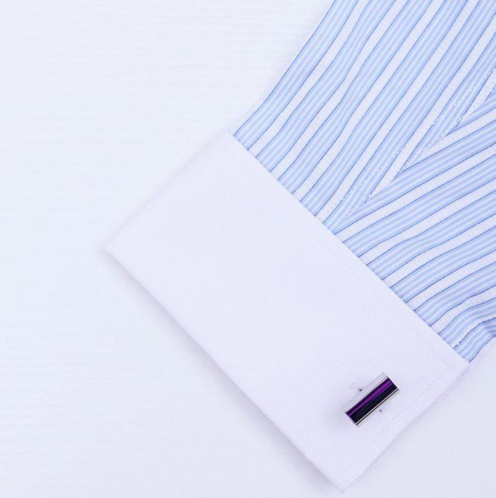 Button Purple Crystal Cufflinks from Gentlemansguru.com