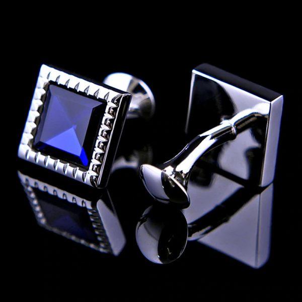 Classic Murano Blue Glass Cufflinks from Gentlemansguru.com
