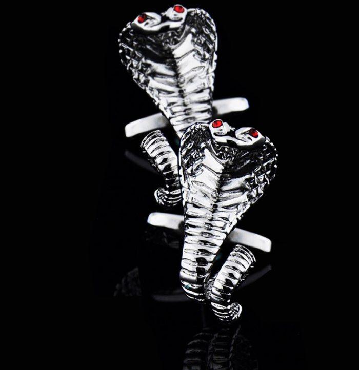 Cobra Snake Cufflinks from-Gentlemansguru.com