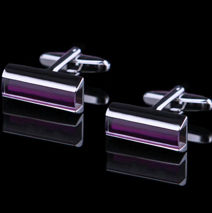 Crystal Purple Cufflinks from Gentlemansguru.com