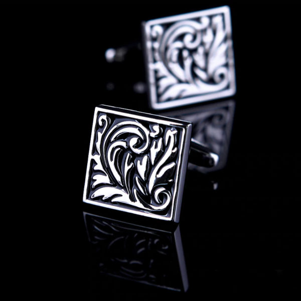 Floral-Vintage-Brass-Cufflinks-from-Gentlemansguru.com