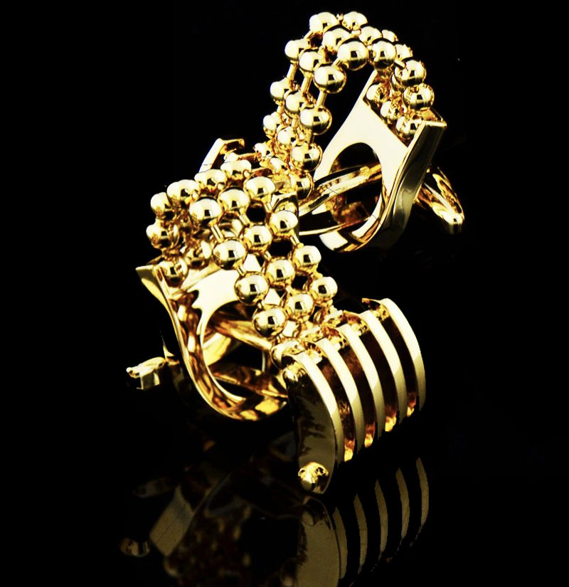Gold-Chain-Cufflinks-from-Gentlemansguru