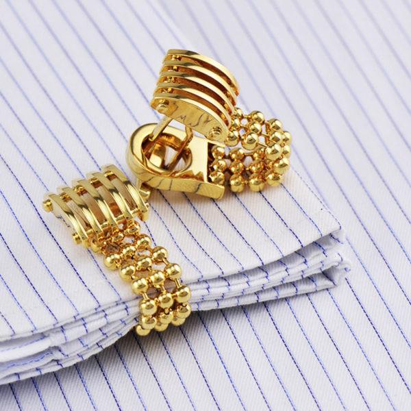 Gold-Cufflinks-With-Chain-from-Gentlemansguru