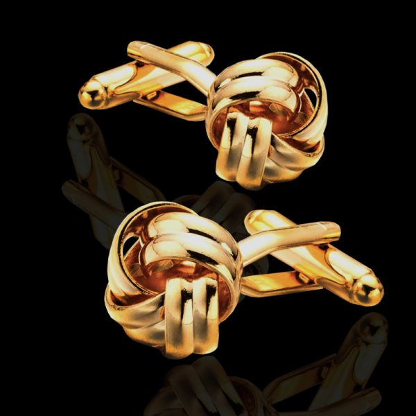 Gold Knot Cufflinks srt from Gentlemansguru.com
