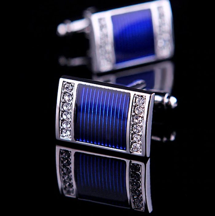 Groom Blue Wedding Cufflinks from Gentlemansguru.com