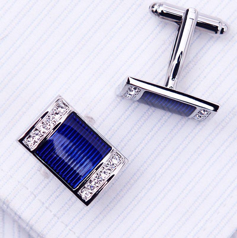 Grooms Wedding Blue Cufflinks Set from Gentlemansguru.com