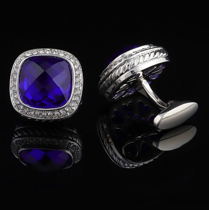 Luxury Cobalt Royal Blue Cufflinks Set for Men from Gentlemansguru.com