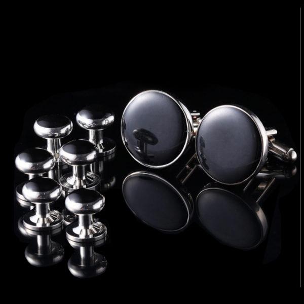 Men-Black-Tuxedo-Cufflinks-and-Studs-Sets-from-Gentlemansguru.com