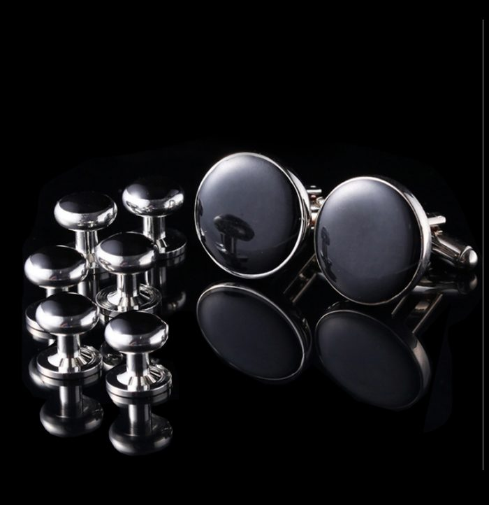 Men-Black-Tuxedo-Cufflinks-and-Studs-Sets-from-Gentlemansguru.com
