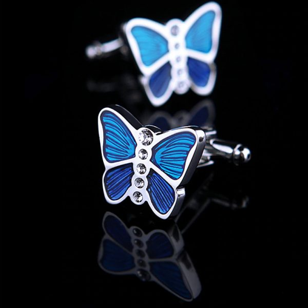 Mens Blue Buttefly Cufflinks from Gentlemansguru.com