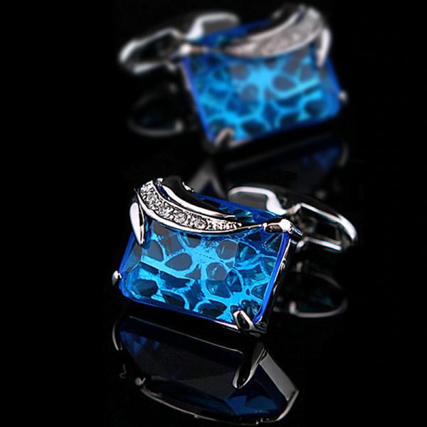 Mens Blue Gemstone Cufflinks from Gentlemansguru.com
