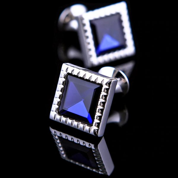 Mens Blue Glass Cufflinks from Gentlemansguru.com